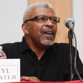 Photo of Darryl Rochester by Tamara Fleming taken at Sanctuary Panel in 2014